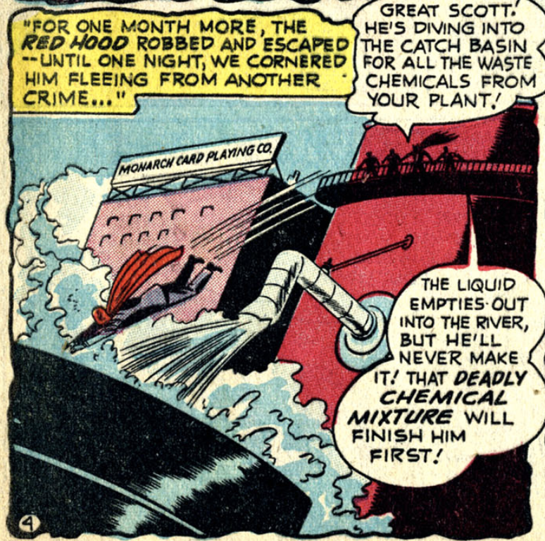 Who is the Red Hood?  A panel from Detective Comics #168, December 1950