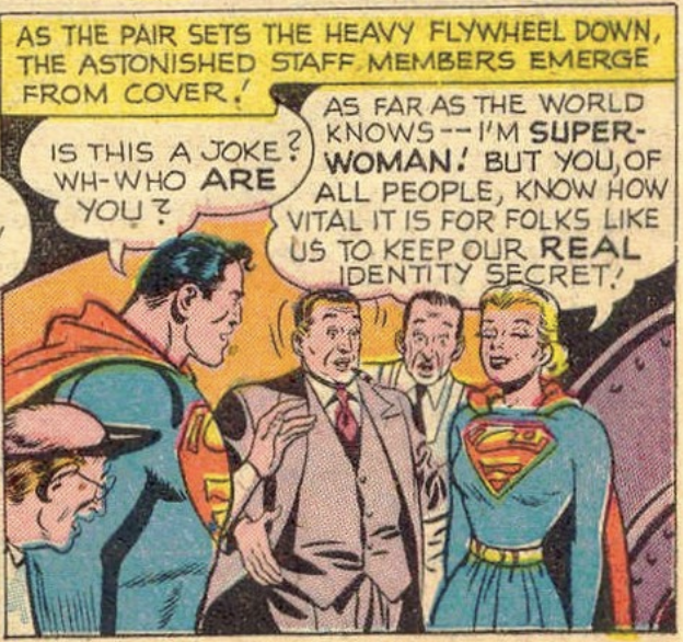 A panel from Action Comics #156, March 1951