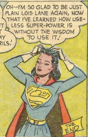 Lois back to normal in Action Comics #156, March 1951