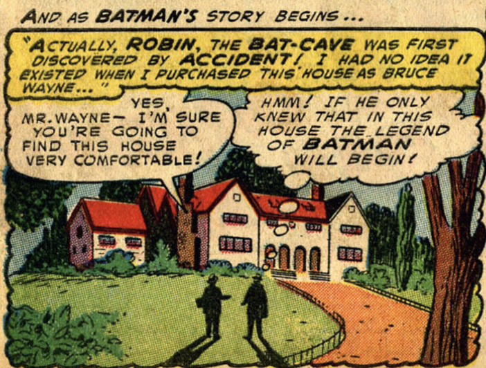 A panel from Detective Comics #205, January 1954