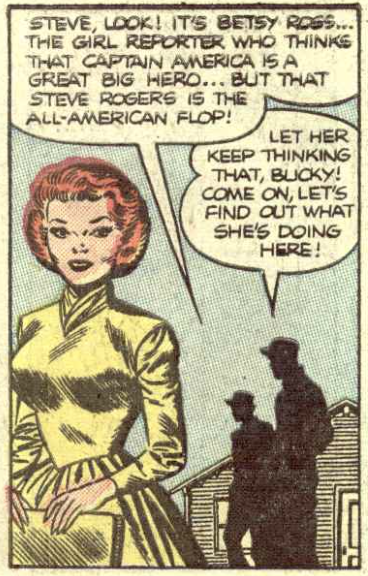 Betsy Ross revived in Captain America #36, January 1954