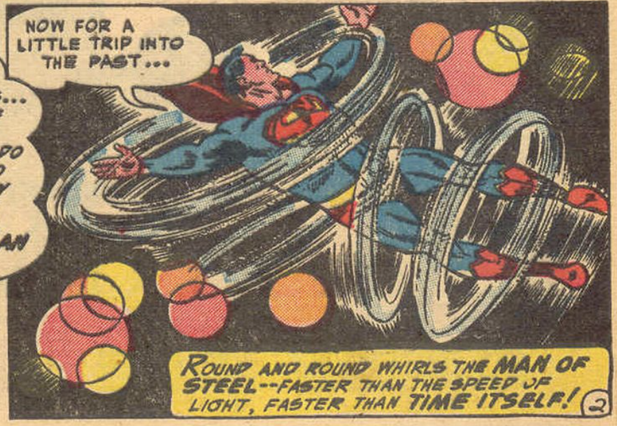 A panel from Superman #89, March 1954