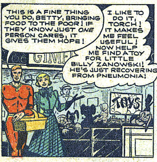 A panel from Human Torch #36, January 1954