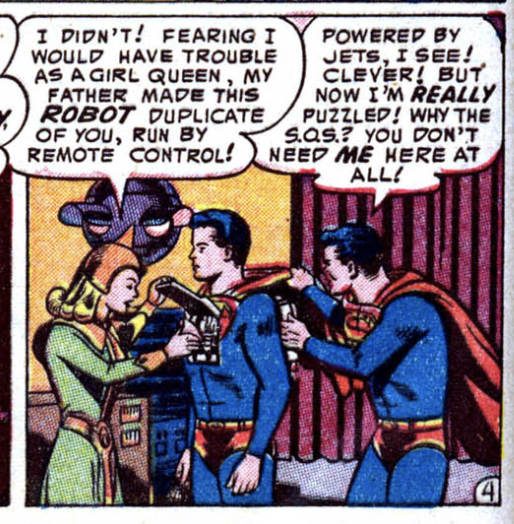 A panel from Adventure Comics #199, February 1954