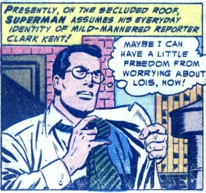 A panel from Action Comics #189, December 1953