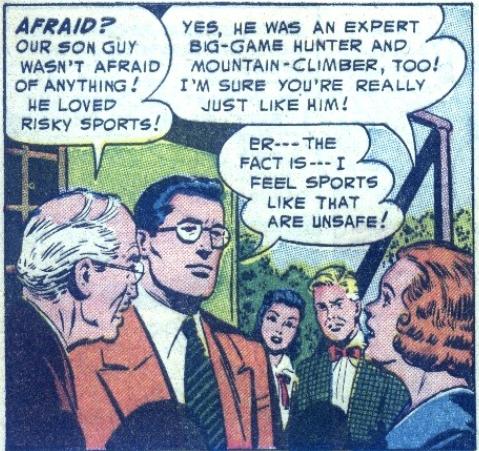 A forlorn Clark in Action Comics #189, December 1953