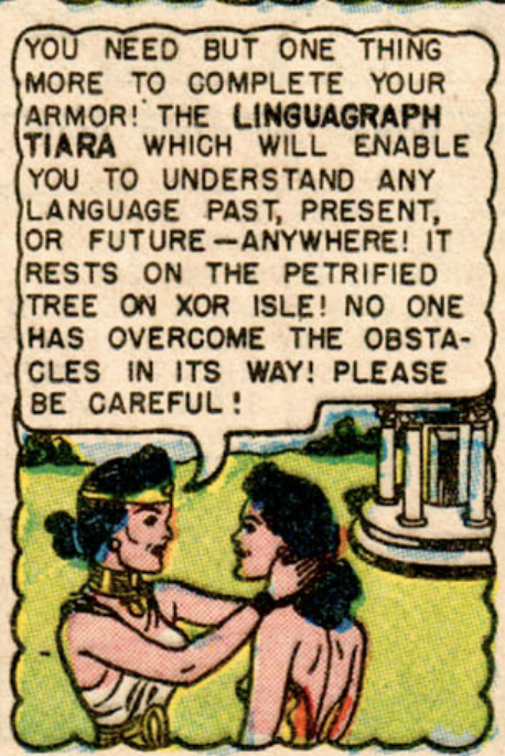 A panel from Wonder Woman #66, March 1954