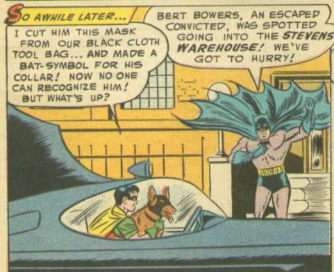 A panel from Batman #92, April 1955