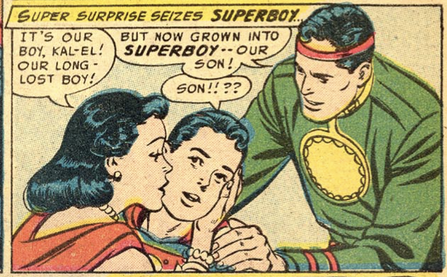 A panel from Adventure Comics #217, August 1955