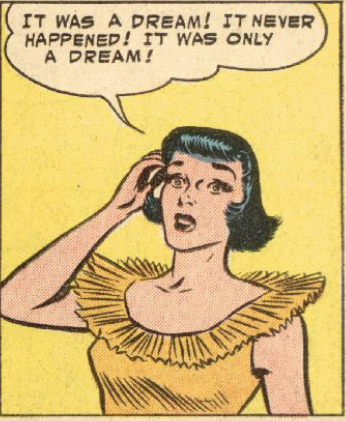 It was only a dream in Action Comics #206, May 1955