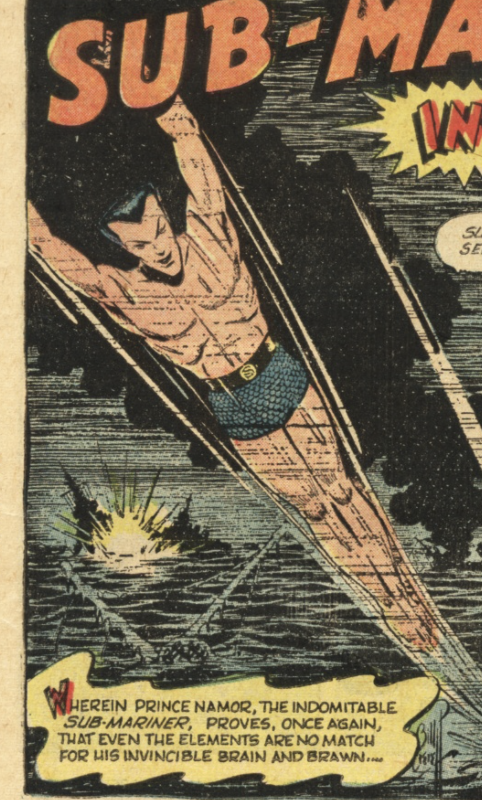 A panel from Sub-Mariner #42, July 1955