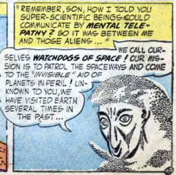 A panel from Strange Adventures #62, September 1955